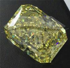Diament naturalny[br]Szlif szmaragdowy [br]127,68 ct - VS2/żółty fan. - GIA[br]160.000.000 PLN
