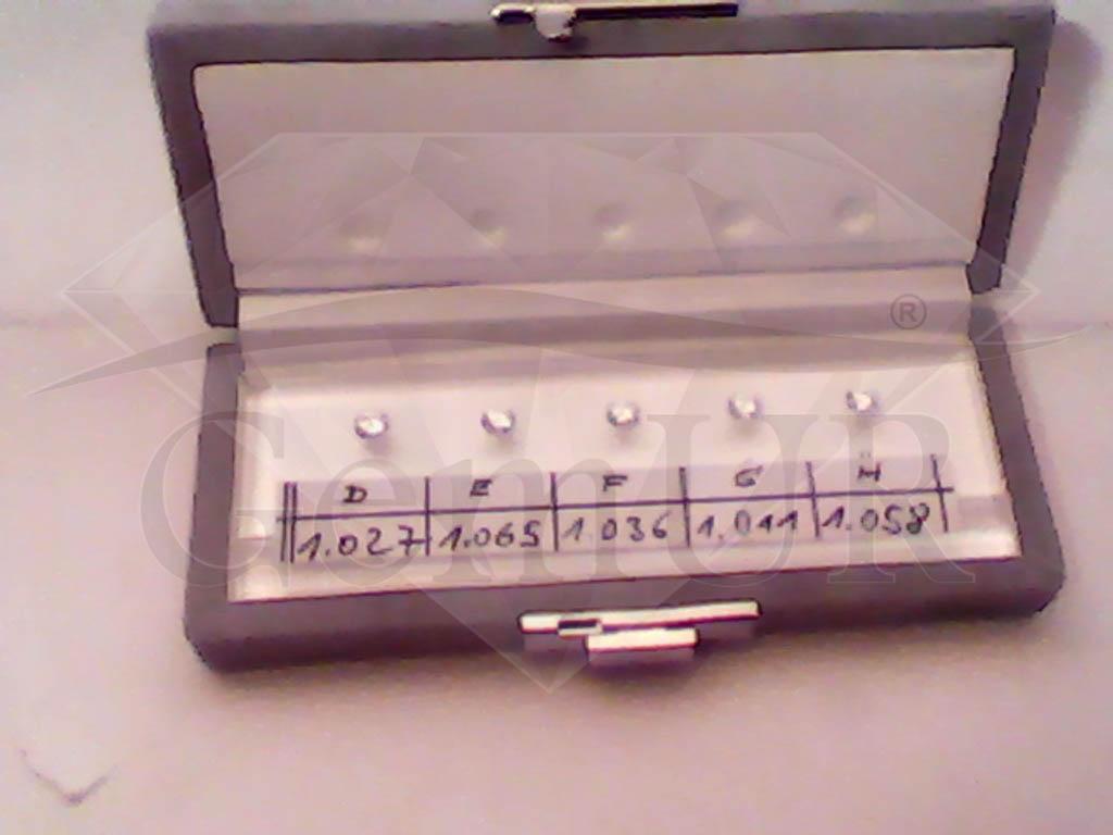 Zestaw kamieni porównawczych - 5 sztuk (D-H)