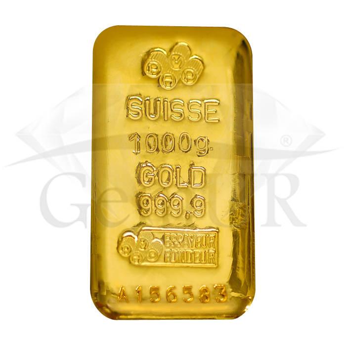 1 kg złota Au próba 999.9 [br] 1 sztabka X 1000 g