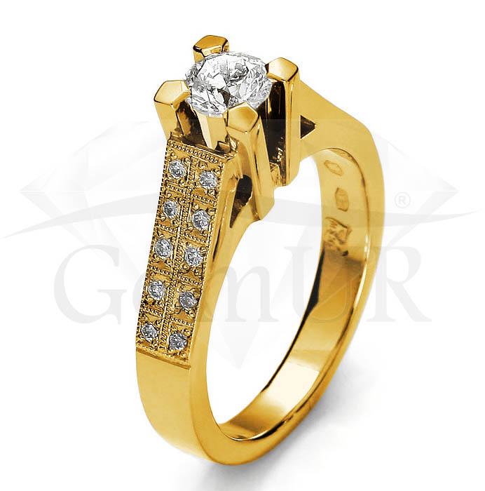 Pierścionek z żółtego złota GZ10