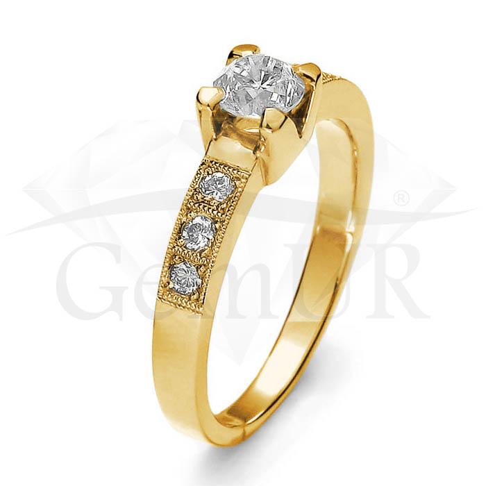 Pierścionek z żółtego złota GZ3