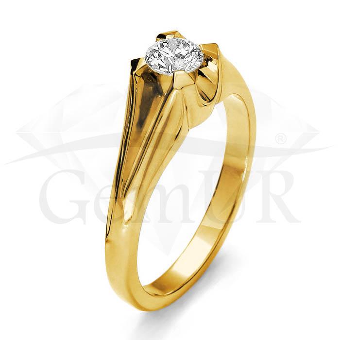 Pierścionek z żółtego złota GZ4
