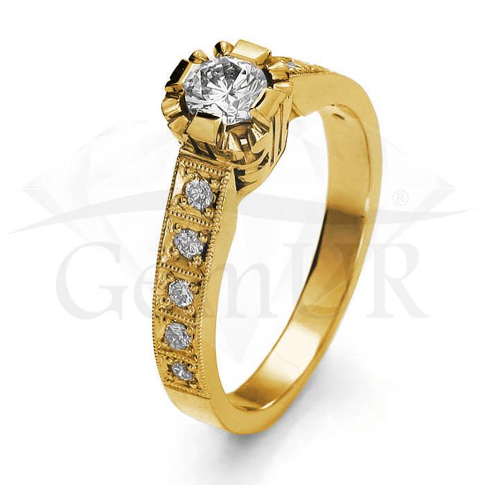 Pierścionek z żółtego złota GZ6