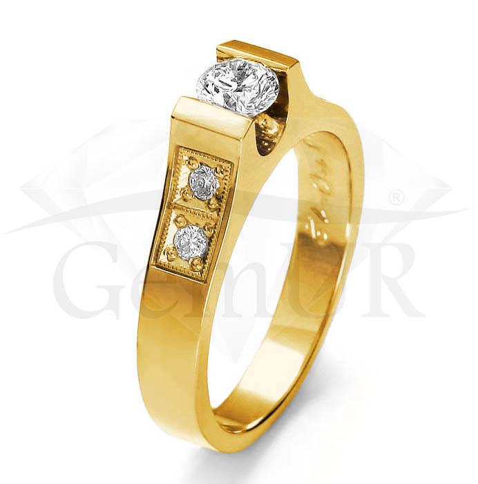 Pierścionek z żółtego złota GZ9
